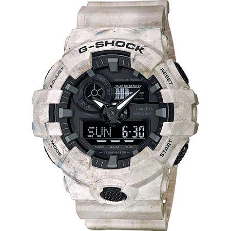 Relógio Casio G-shock Ga-700wm-5adr Utility Wavy Marble