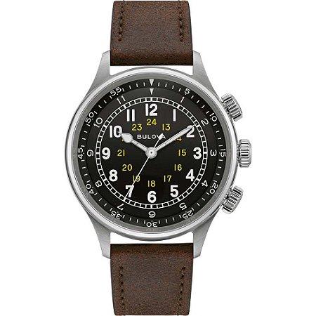 Relógio Bulova Militar reedição A-15 PILOT automático 96A245 masculino