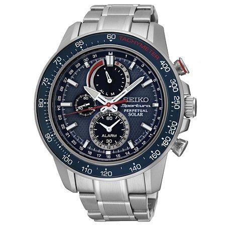Relógio Seiko Sportura Solar Perpetual ssc355b1 * Safira