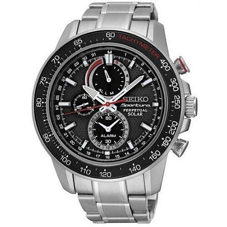 Relógio Seiko Sportura Solar Perpetual ssc357b1 * Safira