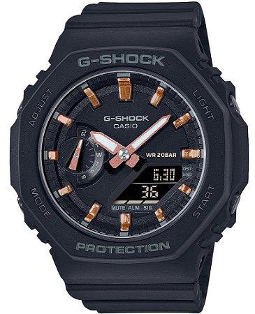Relogio Casio G-shock Carbon Core Guard GMA-S2100-1ADR OAK Feminino