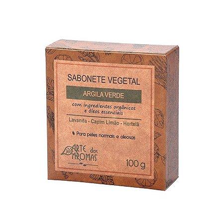 Sabonete  Barra Argila Verde 100g- Arte dos Aromas