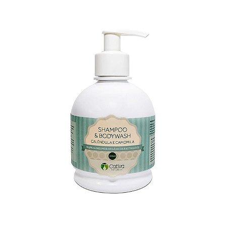 Shampoo e Sabonete 2 em 1 com Calêndula 315ml - Cativa Natureza