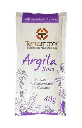 Argila Terramater Orgânica e Certificada - Roxa - 40g