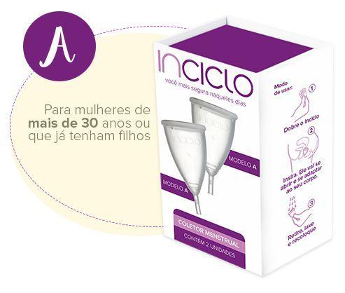 Coletor Menstrual Tamanho A (2 Unidades) - INCICLO