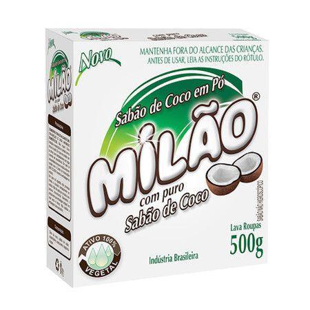 Lava Roupa em pó de Coco 100% Vegetal Milão 500g
