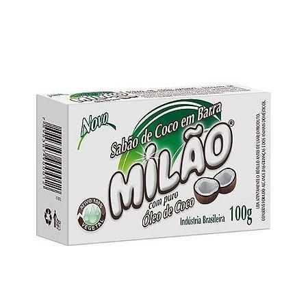 Sabão de coco em barra 100% vegetal Milão - 100g