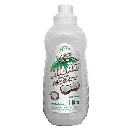 Lava-Roupas Sabão de Coco Líquido 100% Vegetal 1 Litro