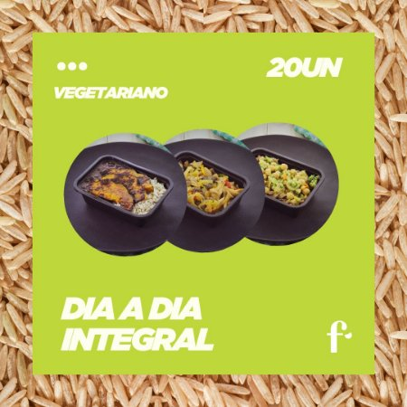 Kit mais vendidos Vegetarianos 20 pratos com ARROZ INTEGRAL