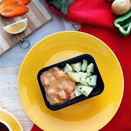 Estrogonofe de Legumes Vegetariano com batata souteé e arroz integral 320g
