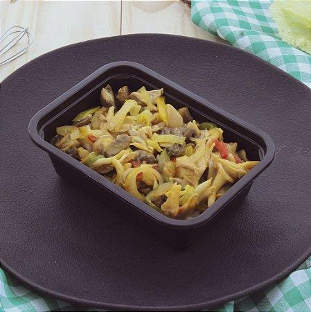 Moqueca vegetariana com mix cogumelos e arroz branco 320g
