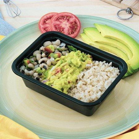 Hot guacamole com feijão fradinho e arroz integral 320g