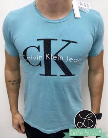 Camiseta Original Griffe Azul Bebe Claro
