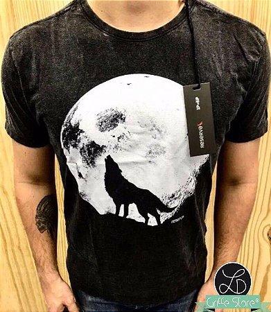 Camiseta Original Masculina Preta Lobo