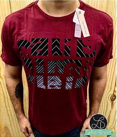 Camiseta Masculina Griffe Vinho