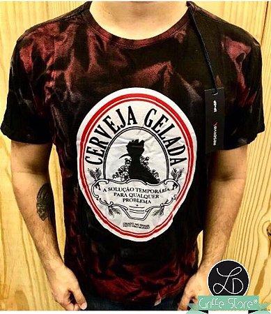 Camiseta Masculina Griffe Cerveja Gelada