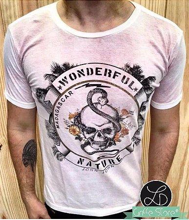 Camiseta Masculina Caveira Wonderful Nature