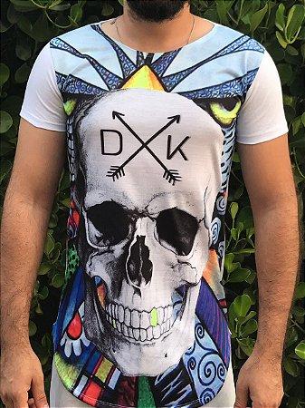 Camiseta DUKBIDE Caveira colorida