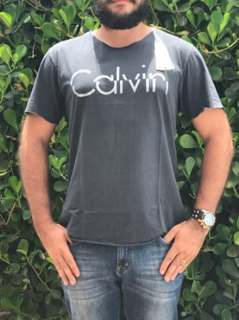 Camiseta Masculina Griffe Cinza Genuina