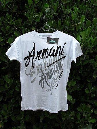 Camiseta Branca Armani Exchange Masculina