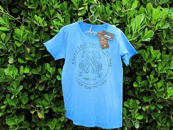 Camiseta Masculina John John Azul Malha