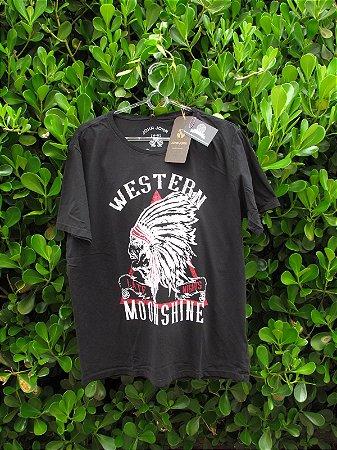 Camiseta Masculina John John Western Moonshine Preta