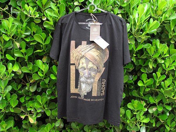 Camiseta Masculina John John Sadhu Preta Muçulmano