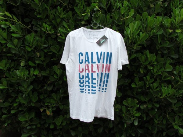 Camiseta Masculina Calvin Klein Escrita Basica