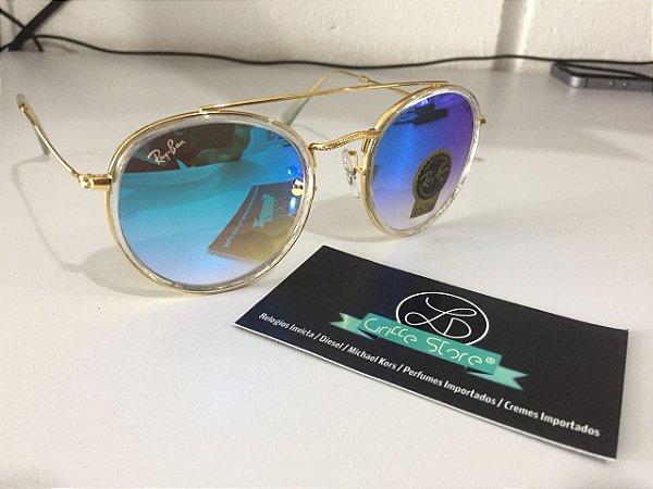 Óculos de Sol Ray Ban Round Double Bridge RB 3647