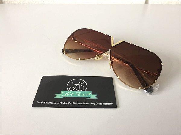 Óculos de Sol Louis Vuiton LV Drive Marrom primeira linha premium