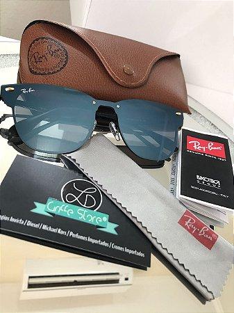 Óculos de Sol Ray Ban Clubmaster Blaze Azul Espelhado RB 3576