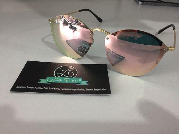 Óculos de Sol Ray Ban Blaze Fleck Espelhado Rosa