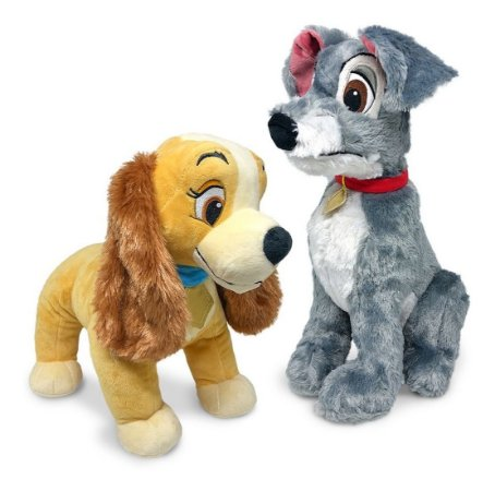 Kit 2 Pelúcias A Dama E O Vagabundo - Cachorros Fun  Disney