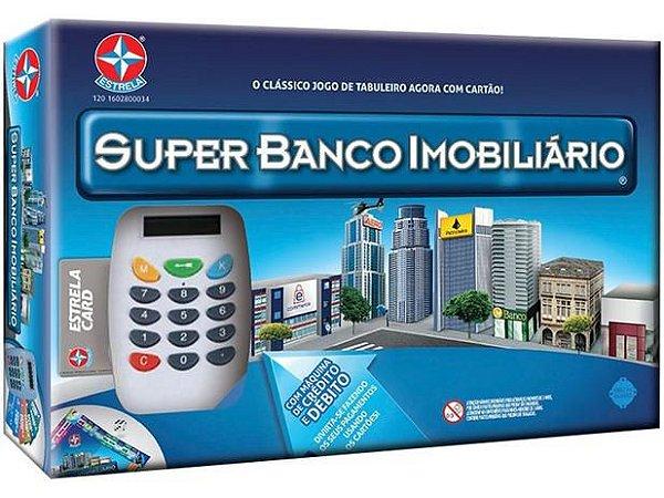Jogo Super Banco Imobiliário Estrela - c/ Máquina de Cartão