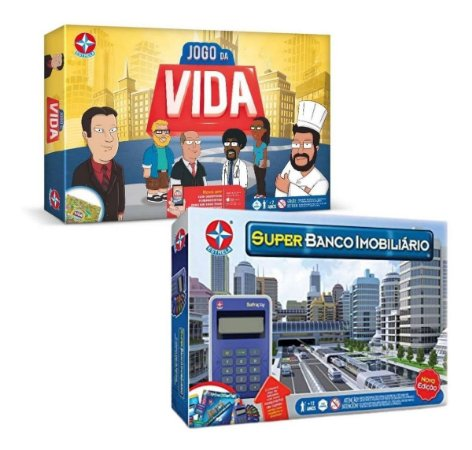 Kit De Jogos Estrela Super Banco Imobiliário + Jogo Da Vida