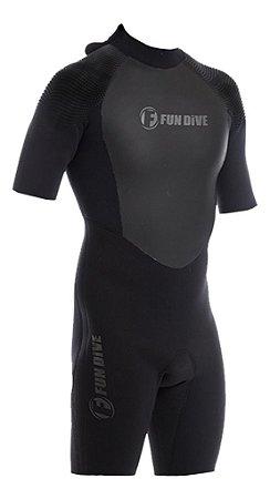 Roupa Neoprene Wailea Curto 3mm Fun Dive Surf Jetski Tam XL