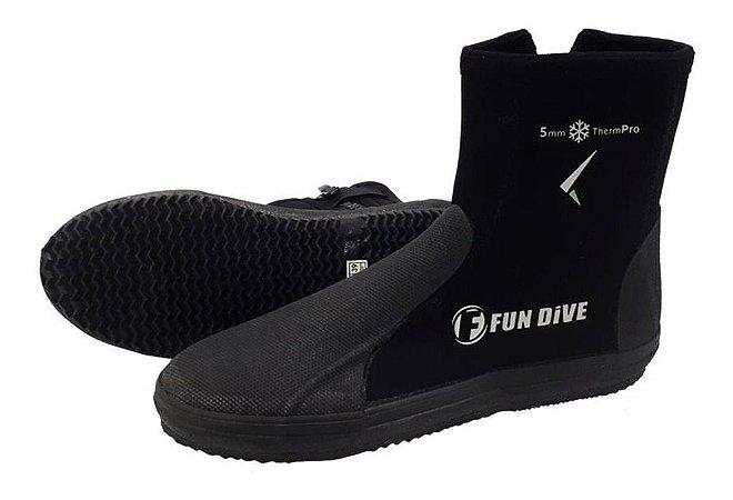 Bota Neoprene Fun Dive B01 5mm Solado Vulcanizado n°39