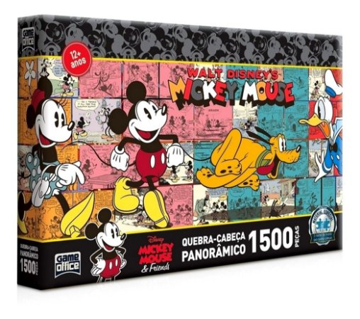 Quebra-cabeça Panorâmico Mickey Mouse 1500 Peças - Toyster