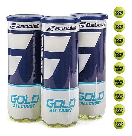 Bola Babolat Gold All Court Tênis - Kitcom 03 Tubos