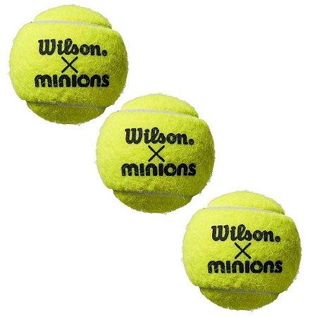 Kit com 3 tubos Bola De Tênis Wilson Minions All Court