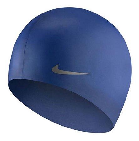 Touca De Natação Nike Solid Silicone Junior Cap Azul Marinho