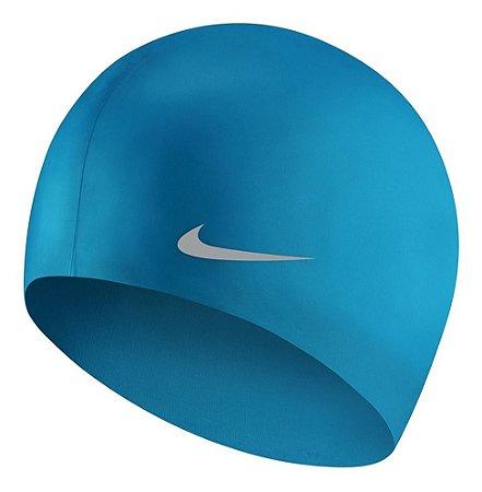 Touca De Natação Nike Solid Silicone Junior Cap - Azul