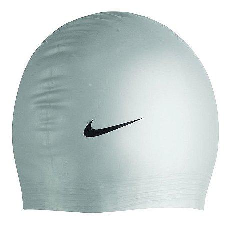 Touca De Natação Nike Solid Silicone Cap - 04a - Prata