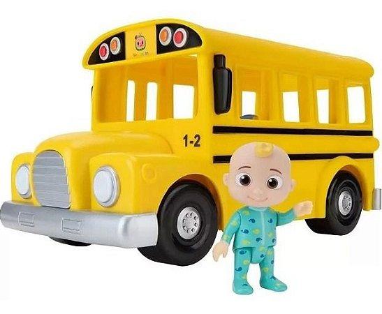 Cocomelon Yellow School Bus Ônibus Escolar Amarelo Com Som