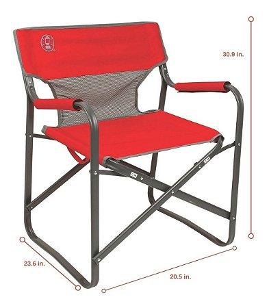 Cadeira Dobrável Com Tecido Respirável Coleman Steel Deck