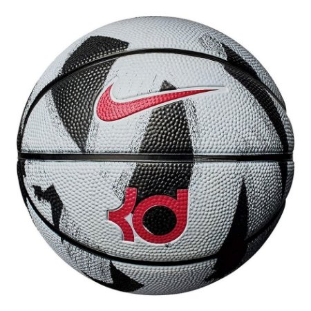Bola De Basquete Nike Kd Mini Tamanho 3 - Preta E Cinza