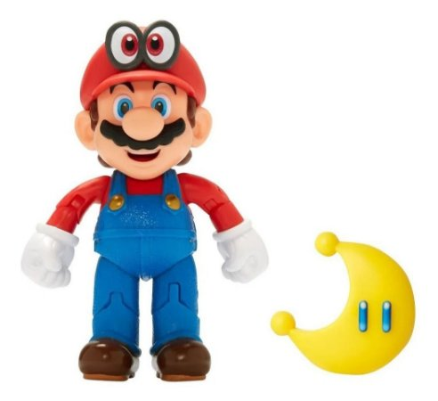 Super Mario Boneco Mario E Cappy 4 Polegadas 3007 - Candide