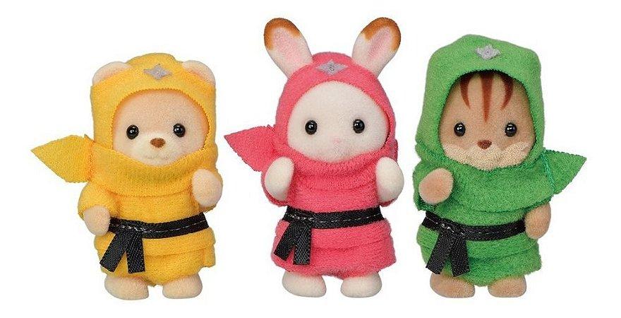 Sylvanian Families Baby Trio Ninja  Epoch 5616
