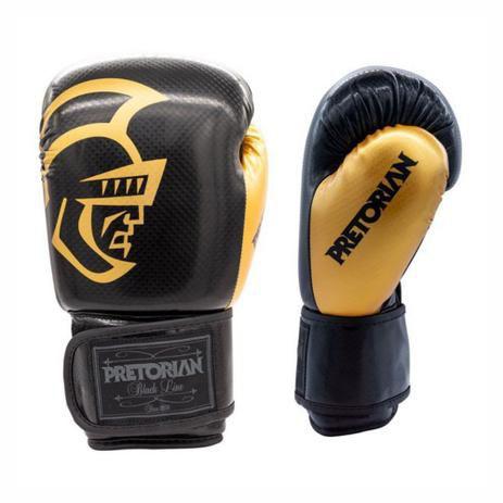 Luva de Boxe Muay Thai Pretorian Black Line Gold 10 OZ