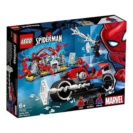 Lego Heroes 76113 Resgate da Moto de Spider-Man Homem Aranha